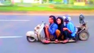 Download World's LOWEST VESPA SCOOTER RIDER Video