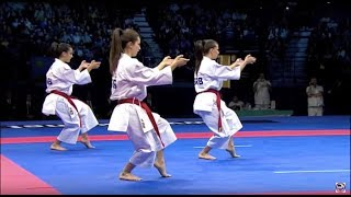 Download Karate Female Team Kata Bronze Medal - Serbia vs Italy - WKF World Championships Belgrade 2010 (1/2) Video