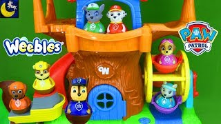 Download Paw Patrol Toys Weebles Treehouse Ferris Wheel Hide and Seek Game Episode Marshall Funny Toy Stories Video