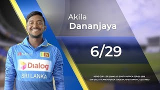 Download Akila Dananjaya's 6 wickets vs South Africa Video