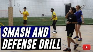 Download Play Better Badminton - Smash and Defense Drill - Coach Andy Chong Video