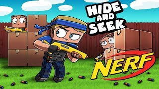 Download Minecraft - BOX FORT HIDE AND SEEK - NERF EDITION! (Nerf Box Fort) Video