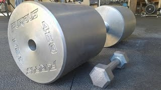 Download Making The Worlds HEAVIEST Dumbbell! (420lbs) Video