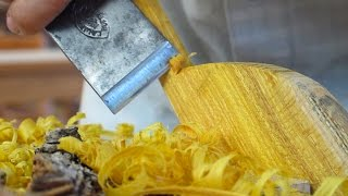 Download Carving A Spatula From An Osage Orange Stump Video