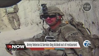 Download Army veteran and his service dog kicked out of restaurant Video