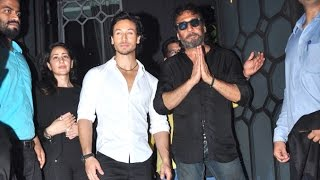 Download Tiger Shroff With Father Jackie Shroff At Baaghi Success Party Video