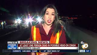 Download At least one person dead in Sorrento Valley crash Video