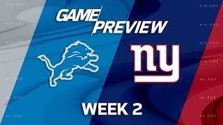 Download Detroit Lions vs. New York Giants | Week 2 Game Preview | NFL Video