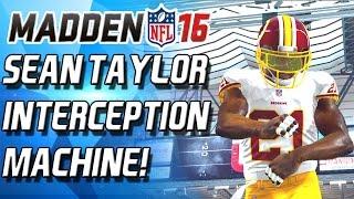 Download SEAN TAYLOR! ZOMG! INTECEPTION MACHINE! - Madden 16 Draft Champions Video