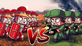 Download Minecraft | 500 WW2 US TROOPS VS 500 ROMAN LEGIONNAIRES! (Massive Mob Battles) Video
