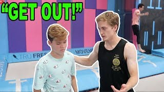 Download SNEAKING INTO A TRAMPOLINE PARK! *CAUGHT* Video