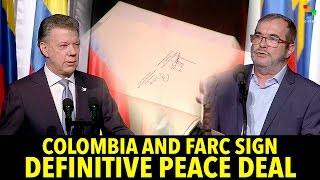 Download Colombia and Farc Sign Definitive Peace Deal Video
