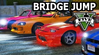 Download GTA V - 2 Fast 2 Furious Bridge Jump Scene Video