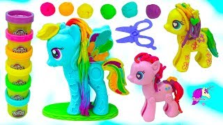 Download My Little Pony Gaint Rainbow Dash Play Doh Hairstyle Hair Cut Makeover MLP Video Video