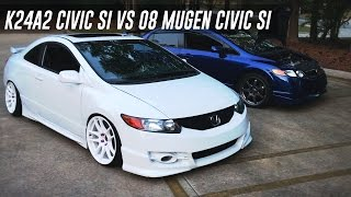 Download 08 Mugen Civic SI vs K24a2 Swapped Civic SI Video