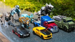 Download Transformers 5 (2017) The Last Knight Autobots Dinobots Vehicles Dinosaurs Dragon Car Robot Toys Video