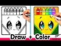 Download How to Draw a Crayon Box Cute + Easy | Fun2draw Video