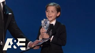 Download Jacob Tremblay Wins Best Young Actor/Actress | 2016 Critics' Choice Awards | A&E Video