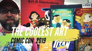 Download The Coolest Art at Comic Con 2019 Video
