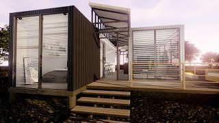 Download Modern 800 SQ Ft Shipping Container Home Virtual Tour Video