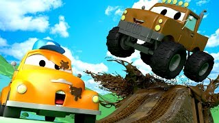 Download Tom the Tow Truck's Car Wash and Marley the Monster Truck | Cars cartoons for kids Video