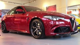 Download Alfa Romeo Giulia Quadrifoglio showcase and startup Video