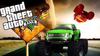 Download GTA 5 Online Funny Moments - ″MONSTER TRUCK TORNADO″ (GTA V Glitch) Video