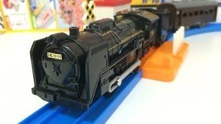 Download 【trem de brinquedo】S-29, C61 Nº 20 locomotiva a vapor com luz Tomy Plarail 00098 pt Video