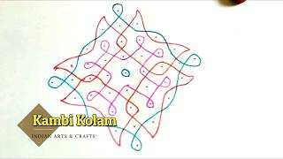 Download 9*1 Sikku kolam | Indian Art's and Crafts Video