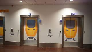 Download Sweden, Stockholm, Arlanda Airport Terminal 5, 7X escalator, 2X elevator Video