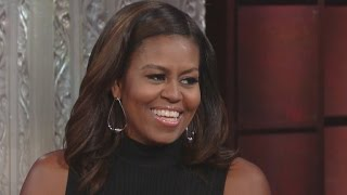 Download Michelle Obama Shows Off Her Impression of Barack, Candidly Addresses Melania Trump Speech Blunder Video