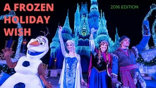 Download A Frozen Holiday Wish - First Magic Kingdom Christmas Cinderella Castle Lighting of 2016 Video