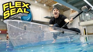 Download I MADE AN ENTIRE BOAT WITH FLEX TAPE CLEAR!! (TESTING FLEX TAPE CLEAR) As Seen On TV Test! Video