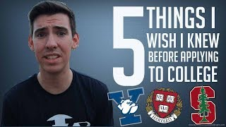 Download 5 THINGS I WISH I KNEW BEFORE COLLEGE APPLICATIONS!! Video