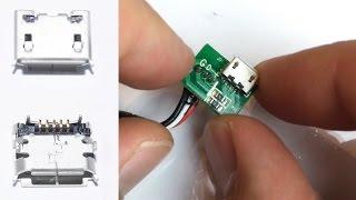 Download 5 Pin Micro USB wechseln , löten , reparieren / repair , soldering , changing Video