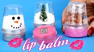 Download DIY Lip Balm {Easy}! How To Make Miniature Snow Globe Lip Gloss! Cool DIY Crafts-Tutorials! Video