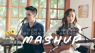Download Don't Wanna Know/We Don't Talk Anymore MASHUP - Sam Tsui & Alex G Video