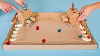 Download DIY Warship Battle Marble Board Game from Cardboard at Home Video