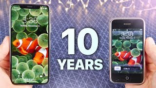 Download iPhone X vs First iPhone! 10 Year Comparison Video