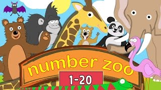 Download Learn to Count to 20 with Number Zoo | Toddler Fun Learning Collection Video