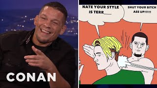 Download Nate Diaz On His Beef With Justin Bieber - CONAN on TBS Video