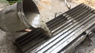 Download How to make cement concrete molds Precast - skills to construction beautiful fences easily Video