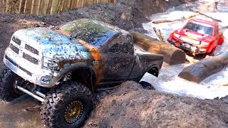 Download 3 TRUCKS GET MUDDY! FiRST TiME ON COURSE as a FAMiLY! #ProudParenting | RC ADVENTURES Video