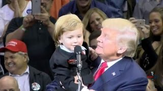 Download Little Trump Look-Alike Comes on Stage with Donald in Wilkes-Barre 10/10/16 Video