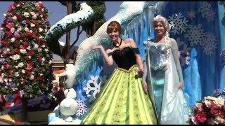 Download FULL ″Frozen″ Festival of Fantasy Parade at Magic Kingdom, Walt Disney World with Anna and Elsa Video