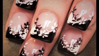 Download Black and White Flower Nails | DIY Easy Daisy Nail Art Design Video