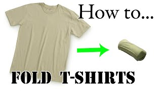 Download Army Packing Hack: How to Army Fold a T-Shirt, Basic Training Style - The Best Ranger Roll Tutorial Video