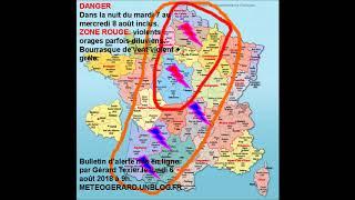 Download METEOGERARD ORAGES PUISSANTS DU MARDI 7 EN SOIRÉE AU JEUDI 9 AOÛT 2018 EN SOIRÉE Video