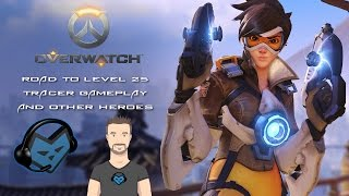 Download OVERWATCH | ROAD TO LEVEL 25 | TRACER GAMEPLAY AND OTHER HEROES | PS4 Video
