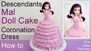 Download Halloween Descendants Mal Doll Cake How to by Pink Cake Princess Video